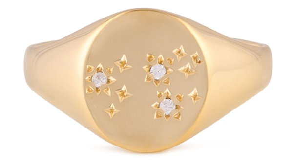 Leo zodiac ring