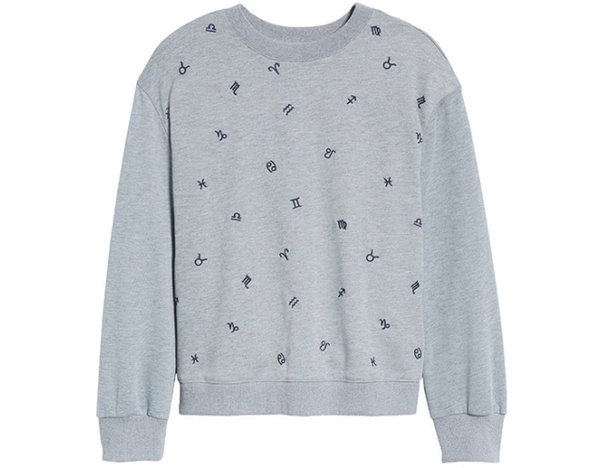 Zodiac embroidered sweatshirt