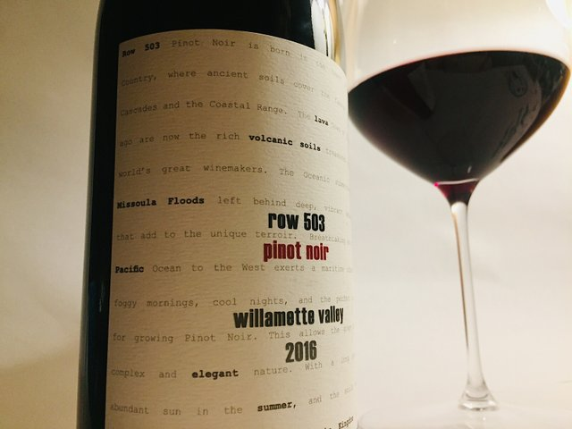 Liquor Boy Row 503 Oregon Willamette Valley 2016 Pinot Noir