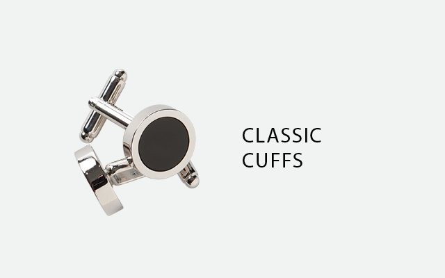 Black onyx cufflinks from Heimie's Haberdashery