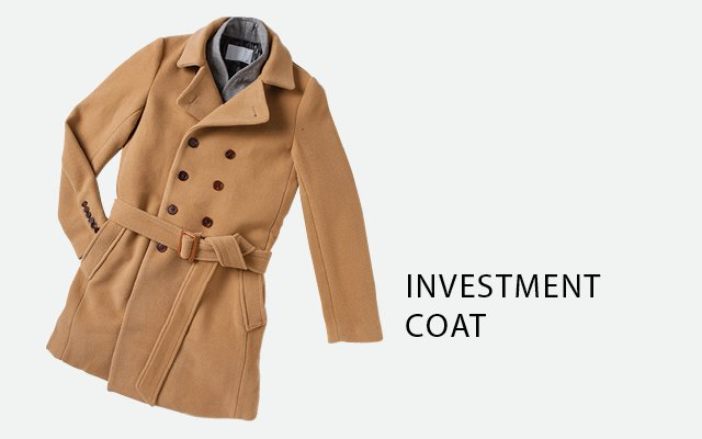 Wool and angora overcoat by Private Stock