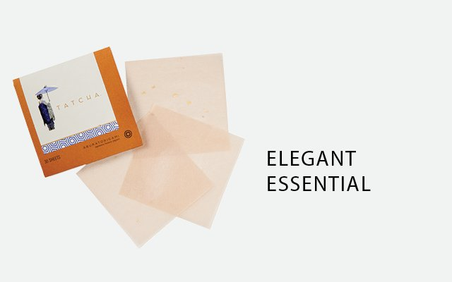 Japanese blotting papers by Tatcha Aburatorigami from J...