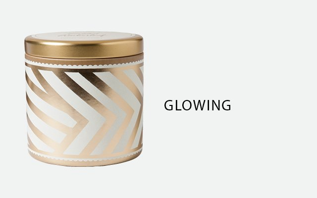 Gilded Amberleaf candle tin by Illume