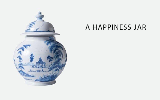 Juliska blue medium ginger jar from Ampersand