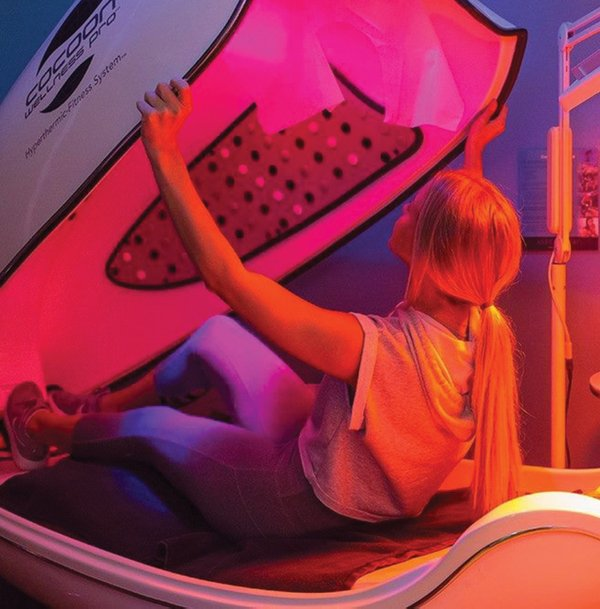 Infrared sauna pod at BZBody Fitness.