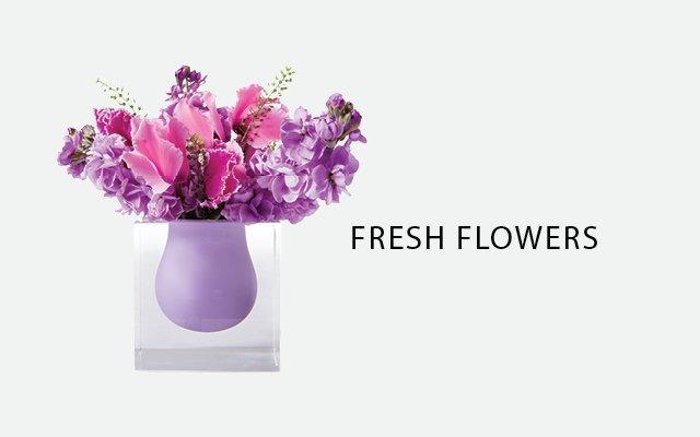 Fresh Flowers from Spruce in Jonathan Adler vase