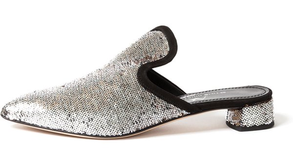 Sequin Mules