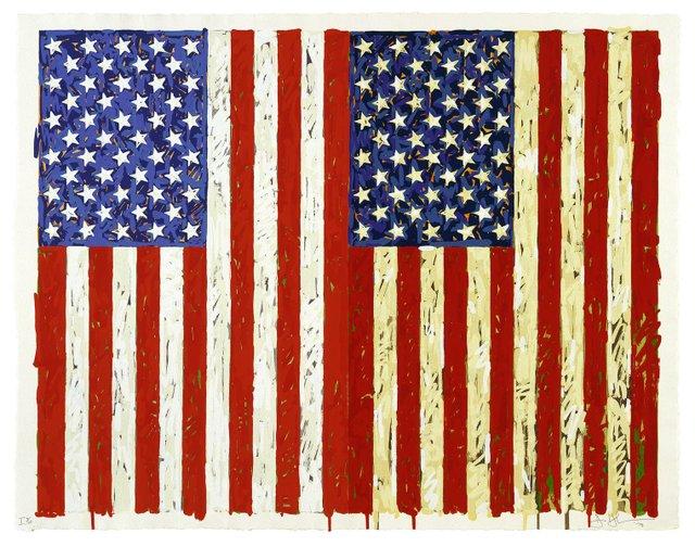 Jasper Johns, Flags I, 1973