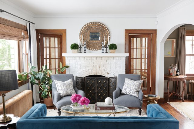 Becky Burley and Ann Mathews Living Room