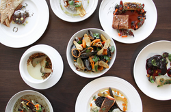 a sampling of different plates of food