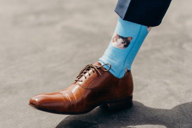 Taylor's wedding socks