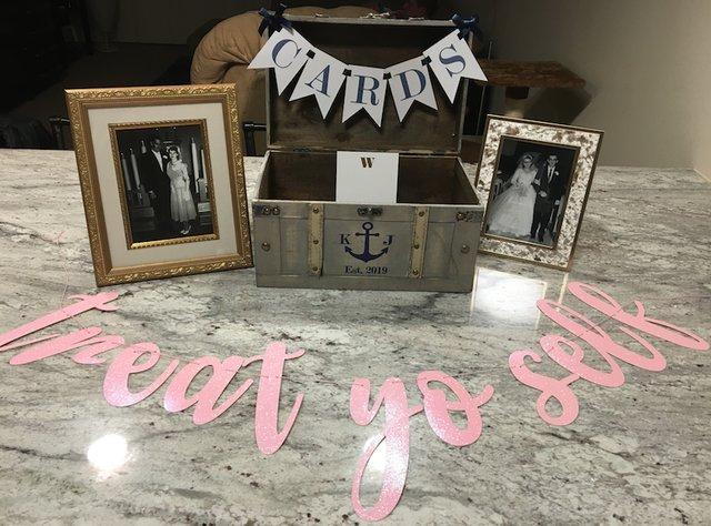 wedding gift card box