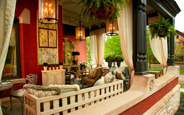The front porch of the 2013 ASID Showcase Home