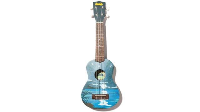 sunset painted on a ukulele