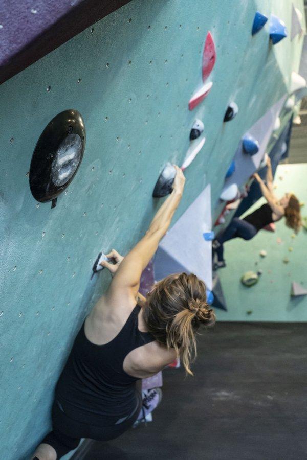 Women Indoor Climbing