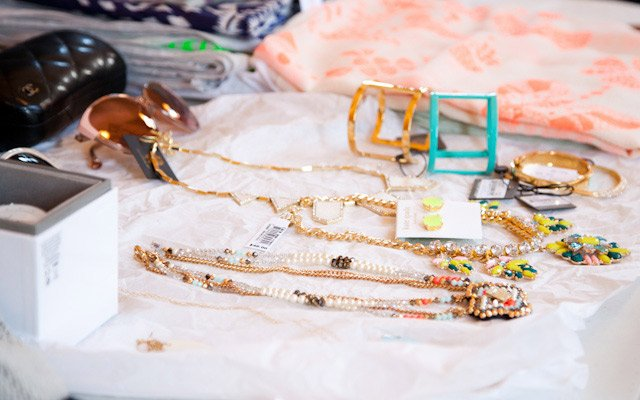 Jewelry options at Mpls.St.Paul Magazine's spring fashi...
