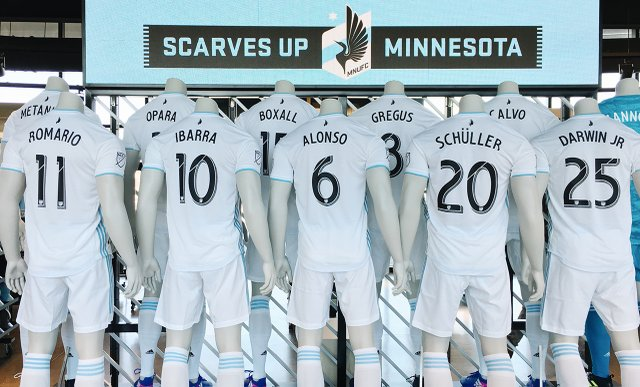 MN United Jerseys at Black and Blue