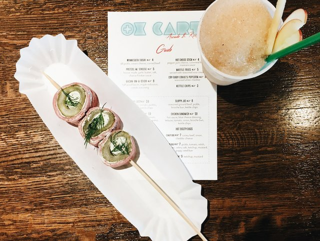 hors d'oeuvres at Ox cart