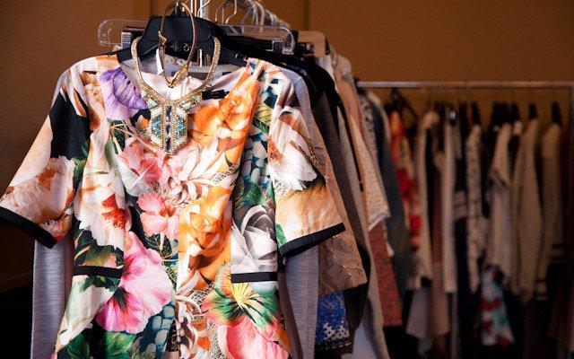 Garment racks full of wardrobe options at Mpls.St.Paul ...