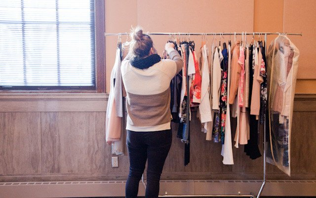 Liz Doyle looks through the wardrobe options at Mpls.St...