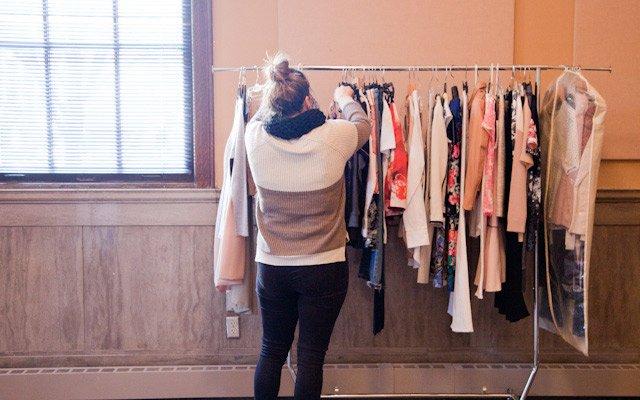 Liz Doyle looks through the wardrobe options at Mpls.St...
