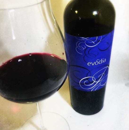 bottle of evódia wine