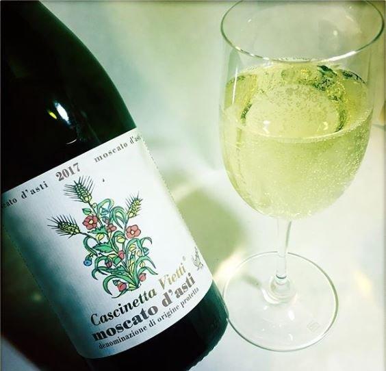 Bottle of moscato d'asti