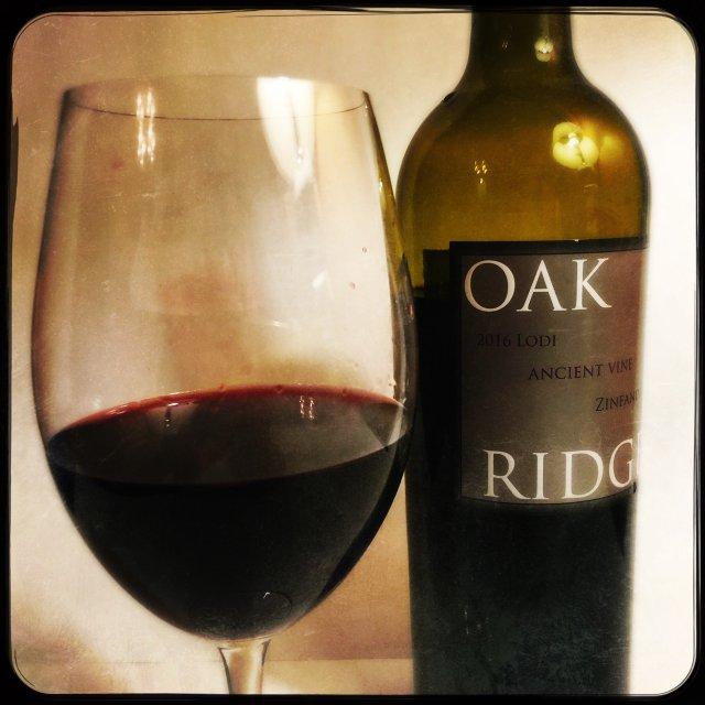 Bottle of Oak Ridge Zinfandel