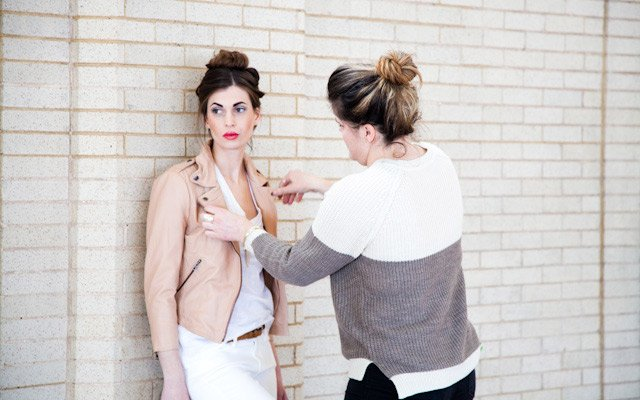 Liz Doyle styles model Laura Penton during Mpls.St.Paul...