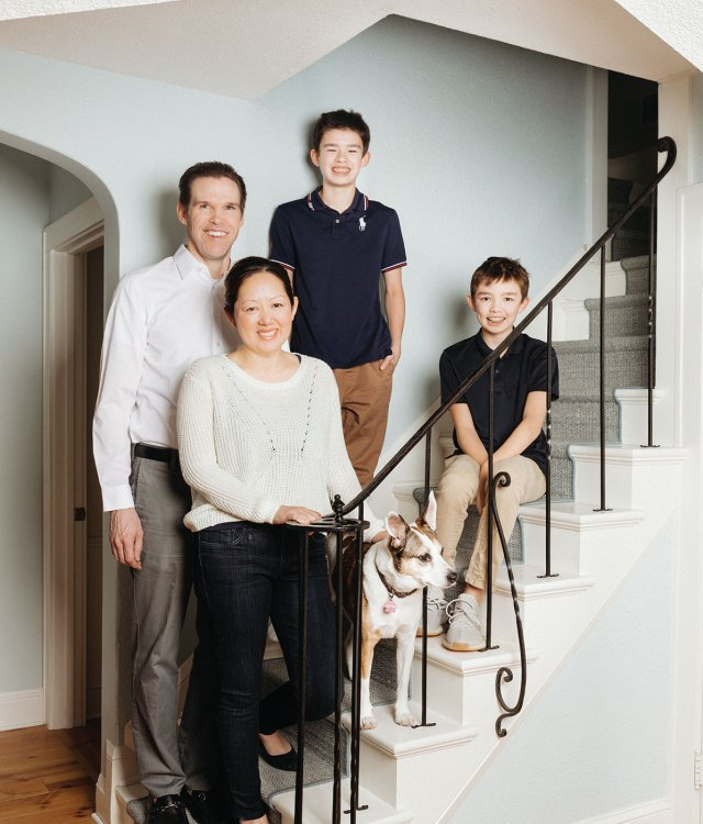 Rob and Trudi Parker with their sons Colin and Dylan