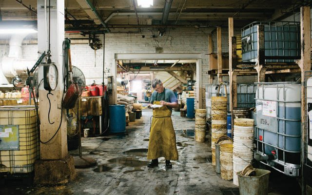 Inside the SB Foote Red Wing Boot Tannery