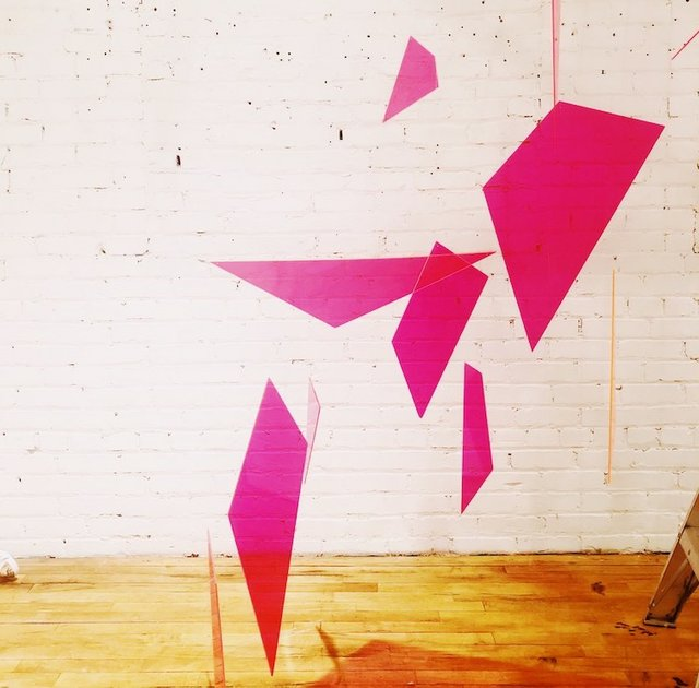 pink gemstone art sculpture