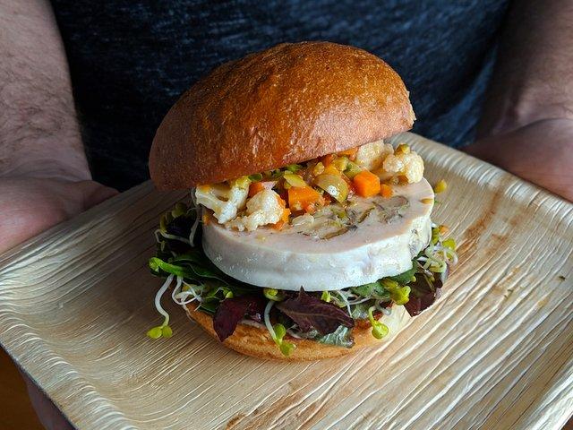 Chicken galantine sandwich