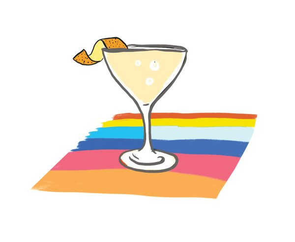 Illustration of a martini