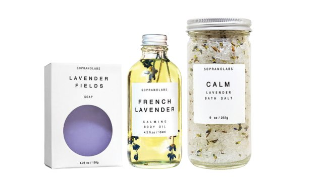 Calm lavender essential kit ($54)
