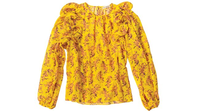 Gold floral blouse