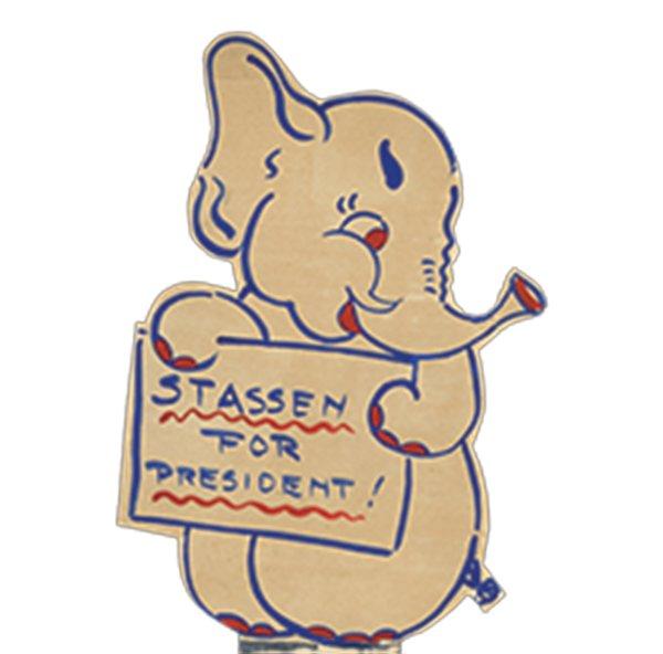 Harold Stassen voting poster