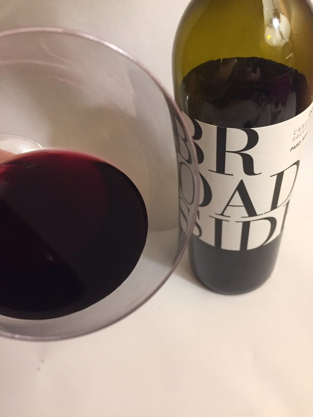 Broadside red wine