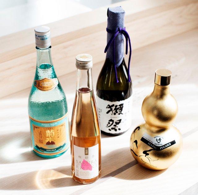 Bottles of saké