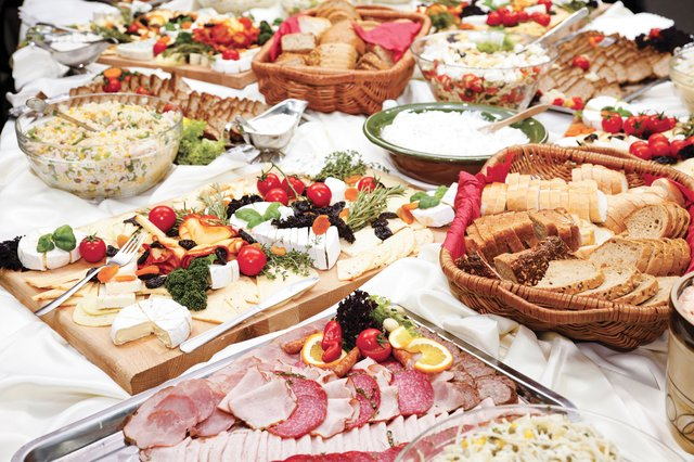 the spread at the reception