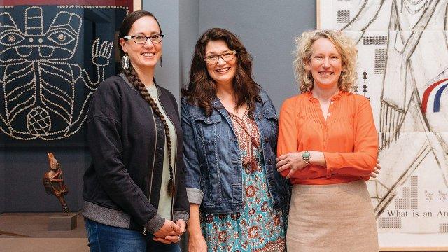 Dyani White Hawk, Dakota Hoska, and Jill Ahlberg Yohe