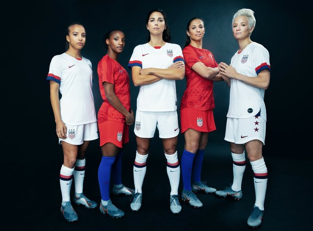 Five players from the 2019 USA Women's World Cup team