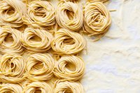 Hand made pasta noodles