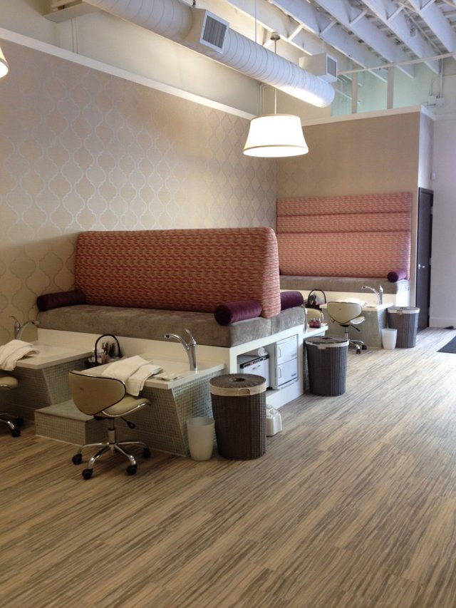 Pedicure stations at the new a la Mode nail spa