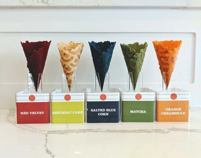 Flavored cones