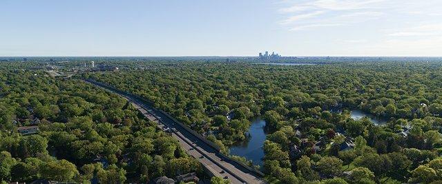 Tree filled Minneapolis