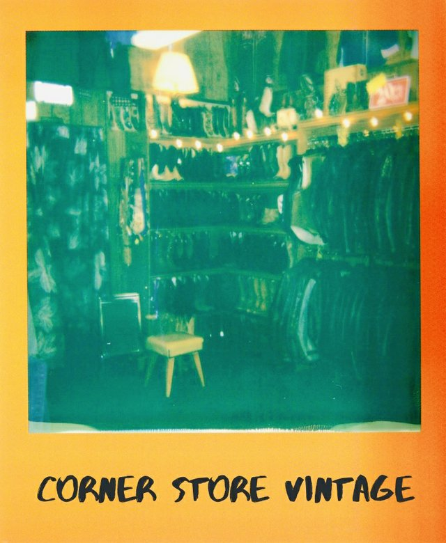 Corner Store Vintage clothing racks
