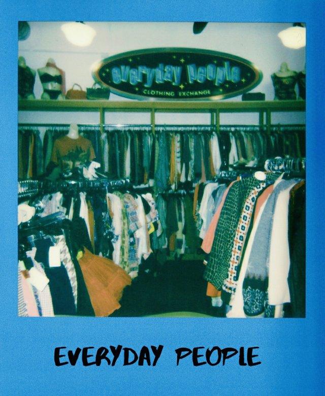 Everyday People clothing store racks