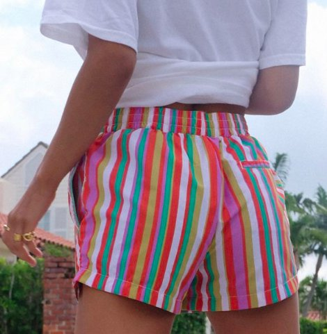Striped rainbow short