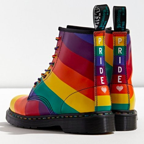 Rainbow colored Dr. Martins